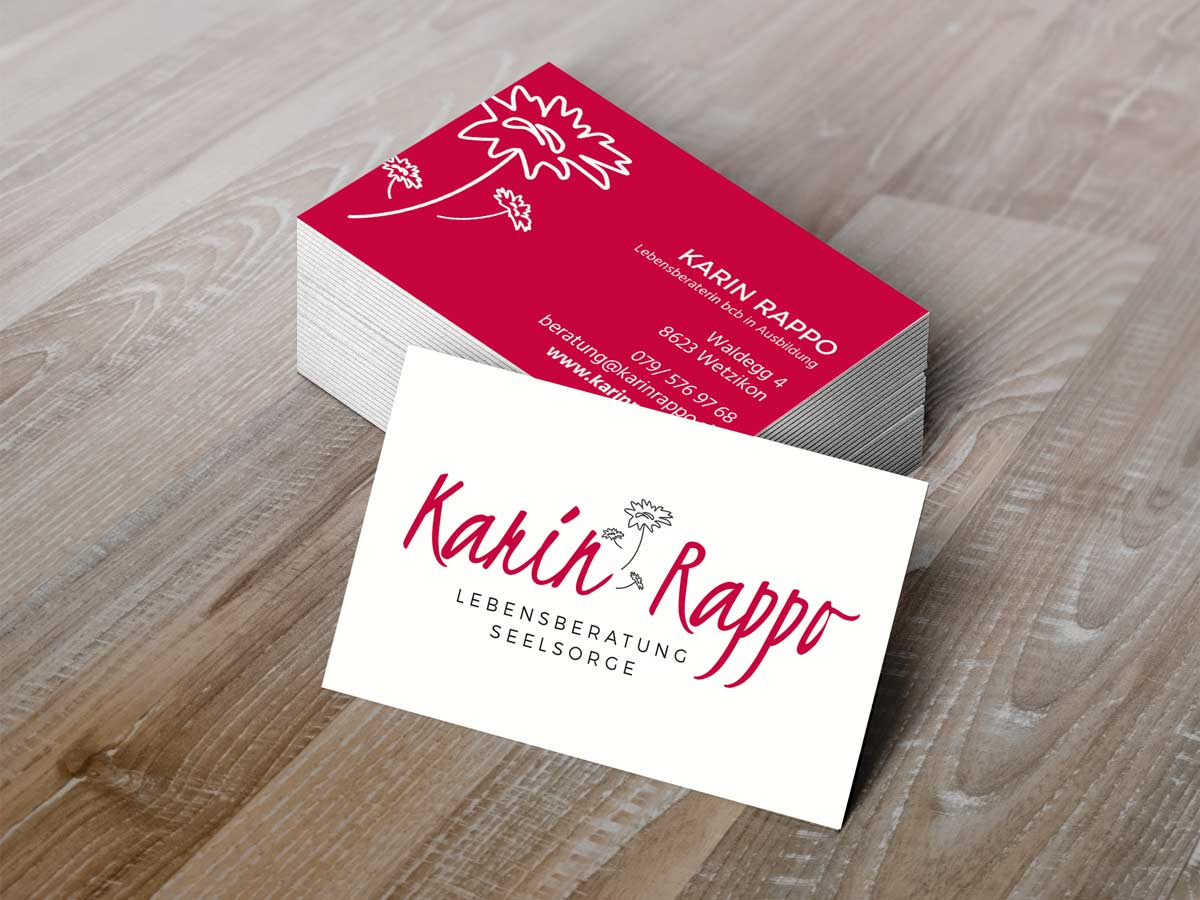 business cards karin rappo